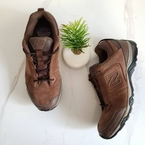 New Balance Brown Leather Walking Shoes Sneakers